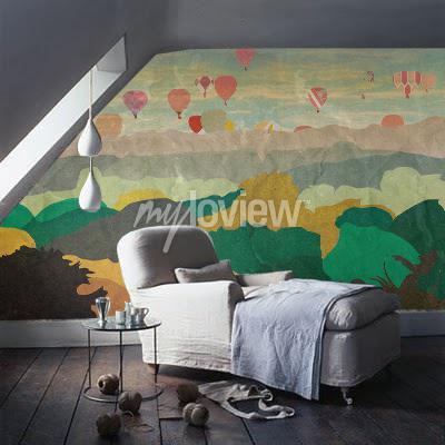 Wall mural Baloons