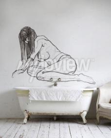Wall mural Shyness