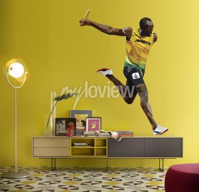 Wall mural Usain Bolt