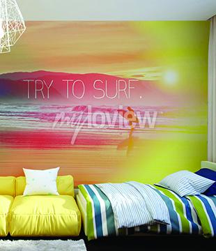 Wall mural Try to Surf