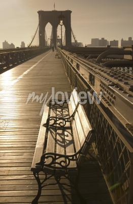 Poster Brooklyn bridge in sepia