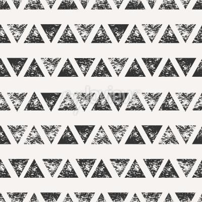 Wall mural Abstract seamless pattern with stamped triangular shapes
