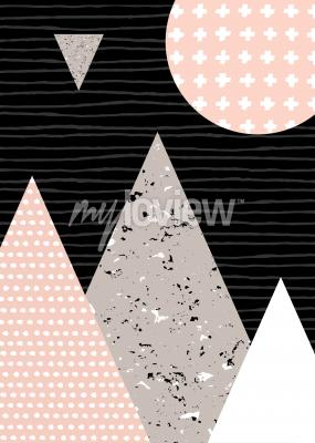 Wall mural Dots pattern and geometric elements
