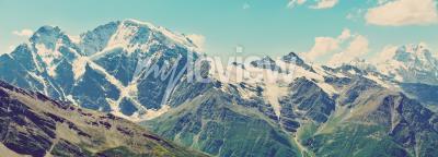 Wall mural Winter mountains panorama
