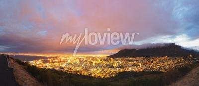 Wall mural Cape Town and Table Mountain panorama