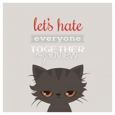 Poster Angry cat cartoon