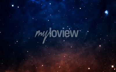 Wall mural Starfield in deep space many light years far from the Earth