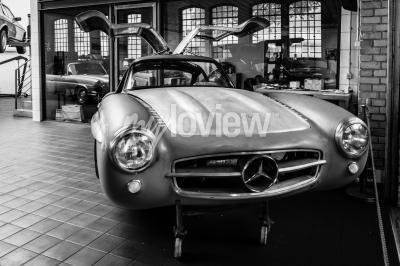 Wall mural Body Mercedes-Benz 300SL in the restoration workshop of Mercedes-Benz