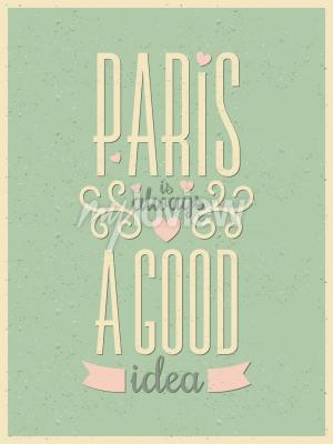 Wall mural Vintage style typography Paris poster