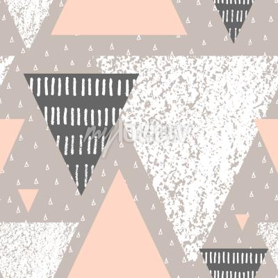 Wall mural Abstract geometric seamless repeat pattern in white gray and pastel pink