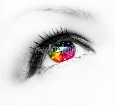 Canvas print Clock in eye