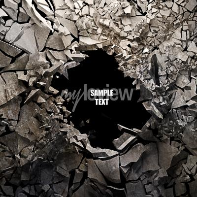 Wall mural Cracked earth abstract background High resolution 3d render