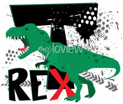 Wall mural Dangerous t-rex