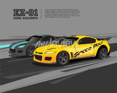 Wall mural Racing Car Design Template