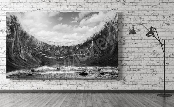 Canvas print rough sea