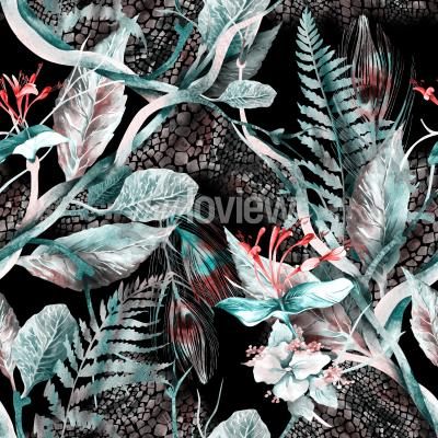 Canvas print Floral Seamless Pattern