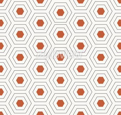 Sticker Minimalistic hexagon