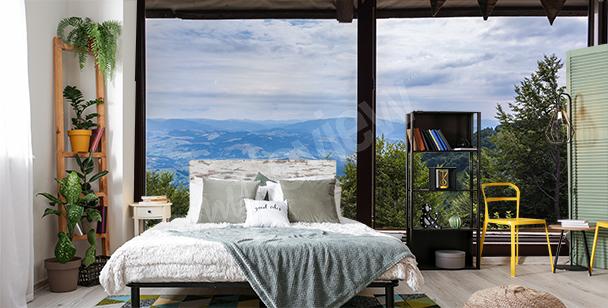 3D bedroom window mural