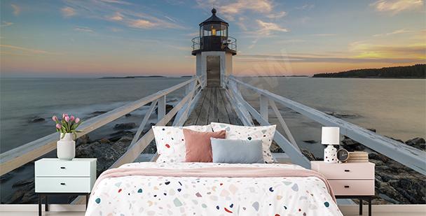 3D lighthouse mural