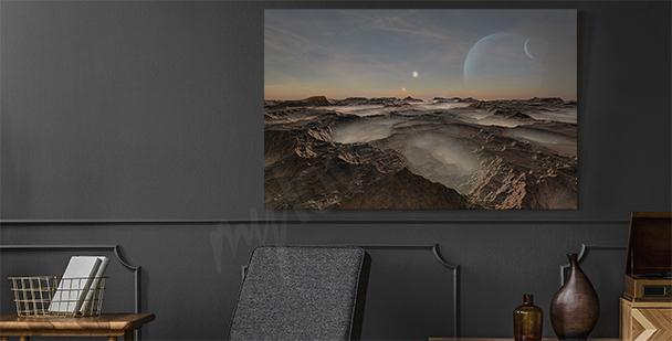3D science-fiction canvas print