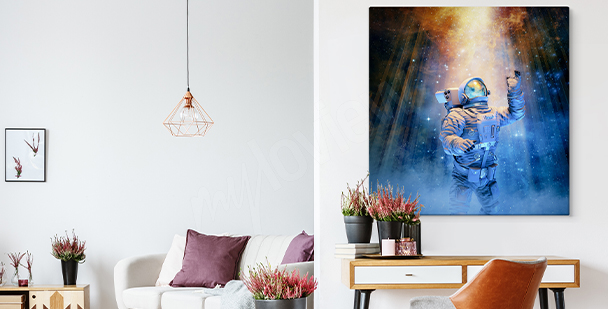 3D space canvas print