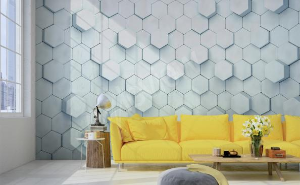 3D wallpaper for living room