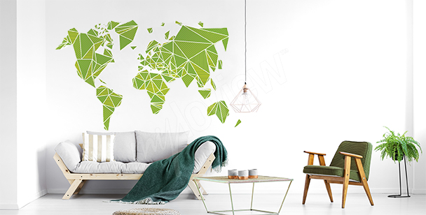 3D world map sticker