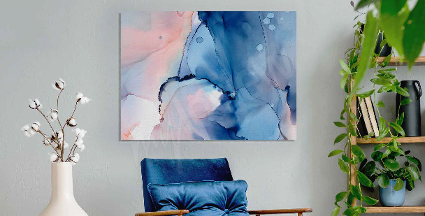 Sea watercolor canvas print