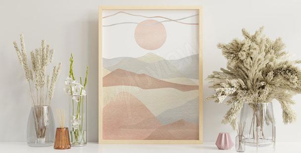 Abstract Boho poster