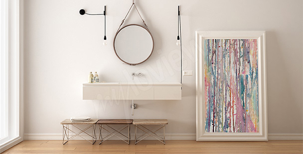 Abstract canvas print for the bathroom