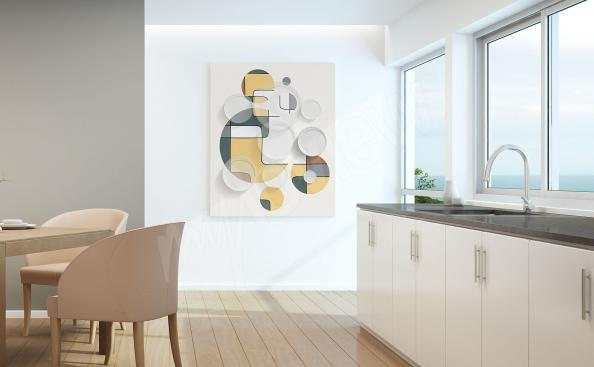 Abstract canvas print for the kitchen