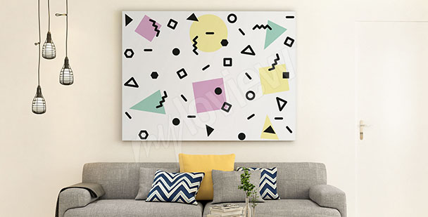 Abstract canvas print living room