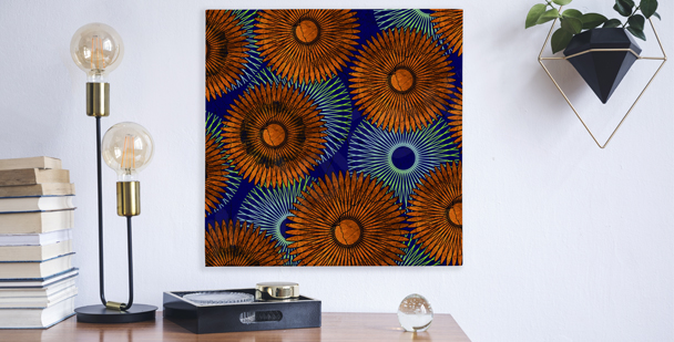 Canvas print sunflower composition