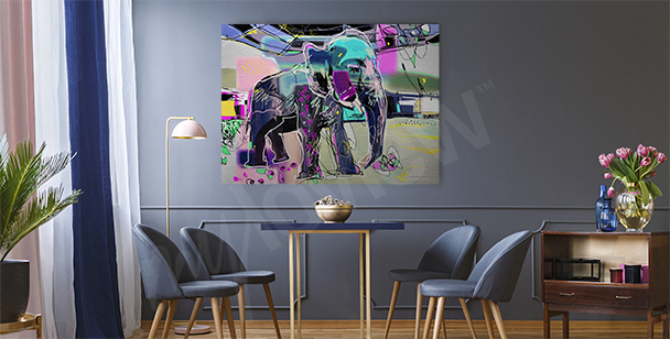 Abstract elephant canvas print