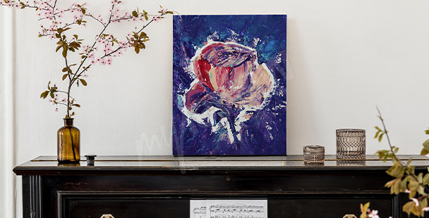 Abstract navy blue canvas print