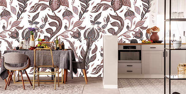 Abstract ornament mural