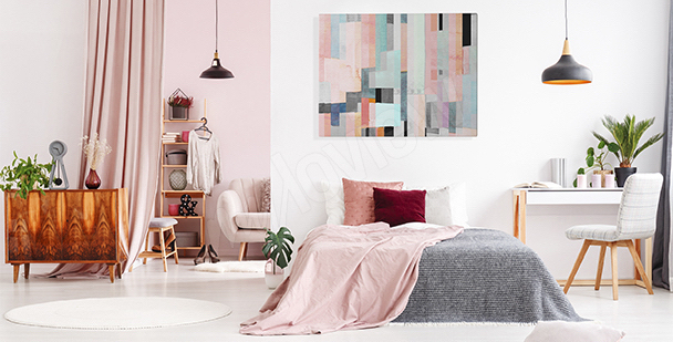 Abstract canvas print for bedroom