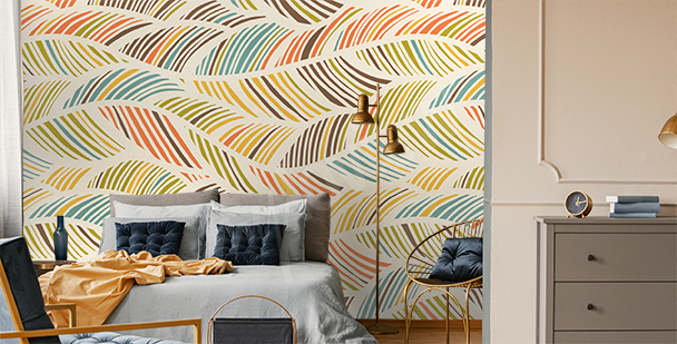 Abstract pattern mural