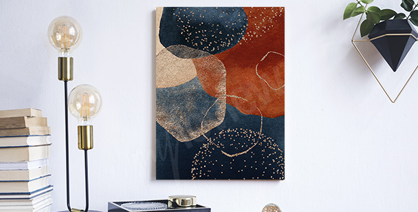 Abstract retro canvas print