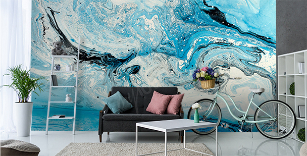 Abstract sea mural