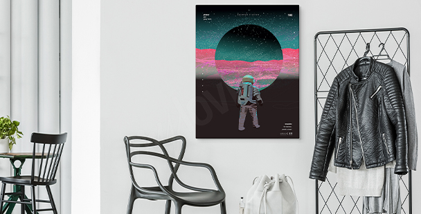 Secrets of space canvas print