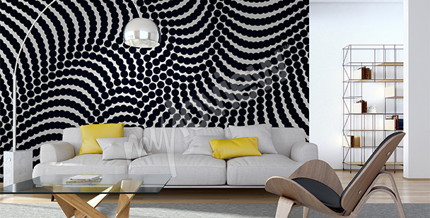 Abstract spiral mural
