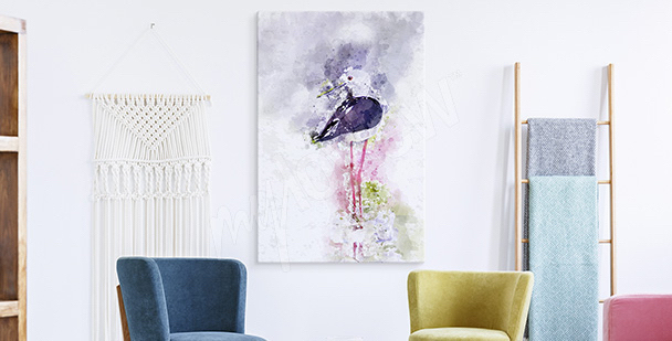 Abstract stork canvas print
