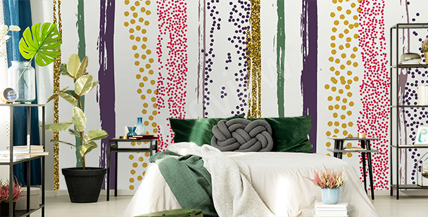 Abstract stripes mural