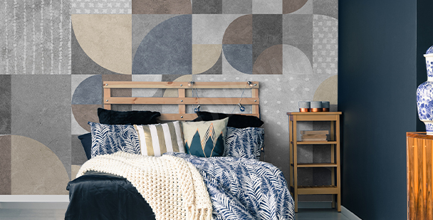 Abstract-style wall mural