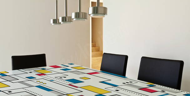 Abstract table top sticker