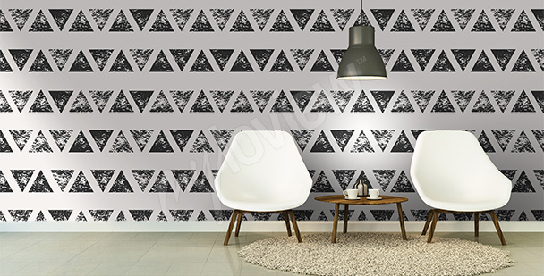 Abstract triangles mural