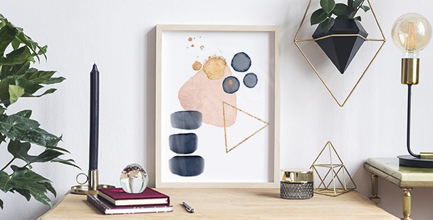 Abstract watercolour poster