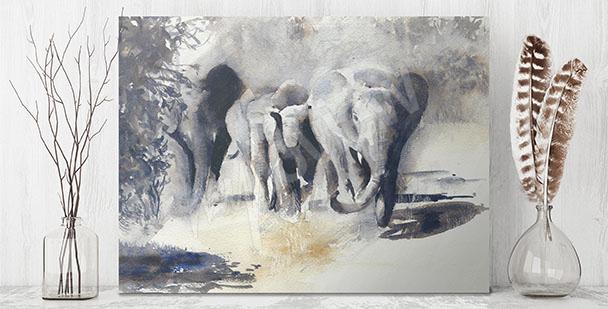 African animals canvas print