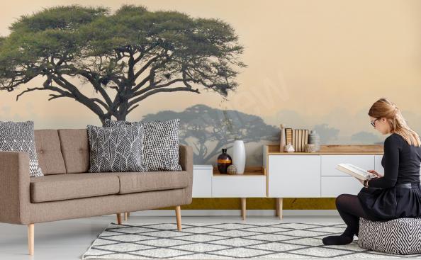 African landscape mural